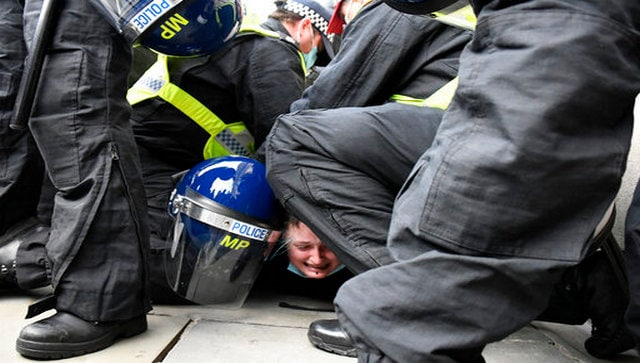 'Kill the Bill' protests: 107 arrested as demonstrators clash with police at central London rally