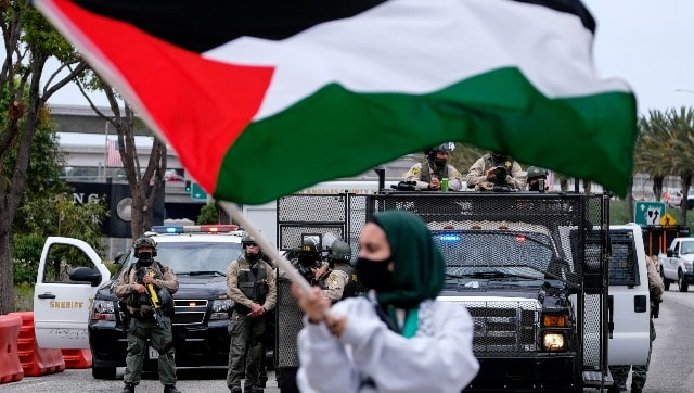 Protesters in major US cities decry airstrikes over Gaza, raise 'free Palestine' slogans-World News , Firstpost