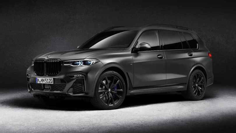 The X7 Dark Shadow edition is the first BMW SUV to sport the Frozen Arctic Grey metallic paint job. Image: BMW