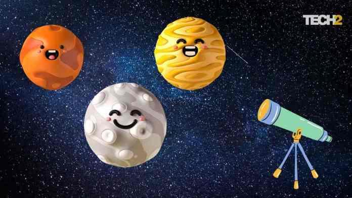 Venus, Mars and moon planetary conjunction. Image credit: Abigail Banerji/Tech2