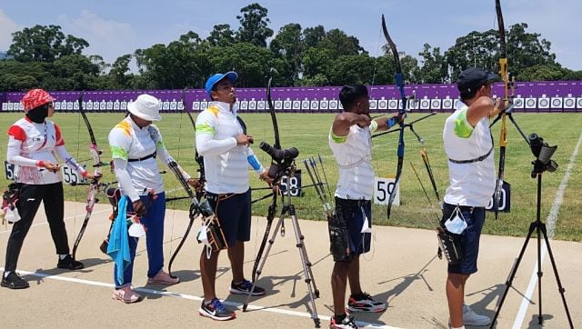 Indian archers arrived early on Tokyo. Weather conditions matter a lot in archery and they are making sure to be ready for the big day. Image courtesy: Twitter/@Media_SAI