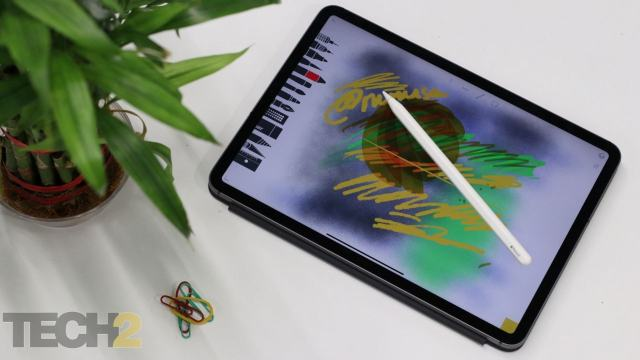 Apple Pencil 2 has also undergone a design change and thankfully comes with a much improved way of charging. There's also gesture support. Image: tech2/Omkar Patne
