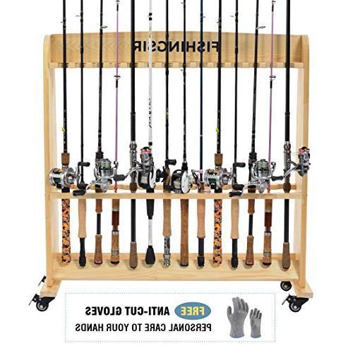 fishing pole racks for garage