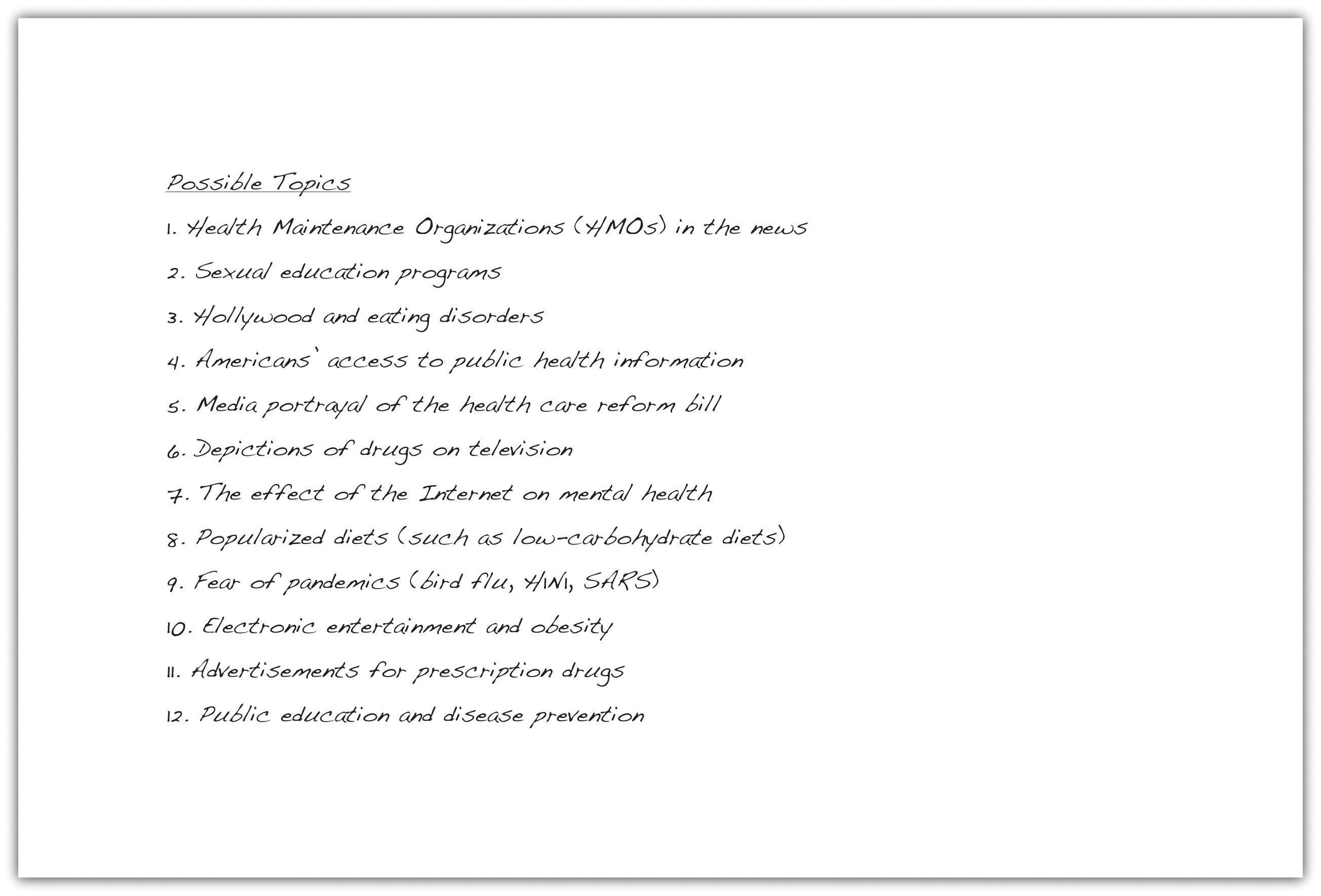 Honors English 9 Essay Topics