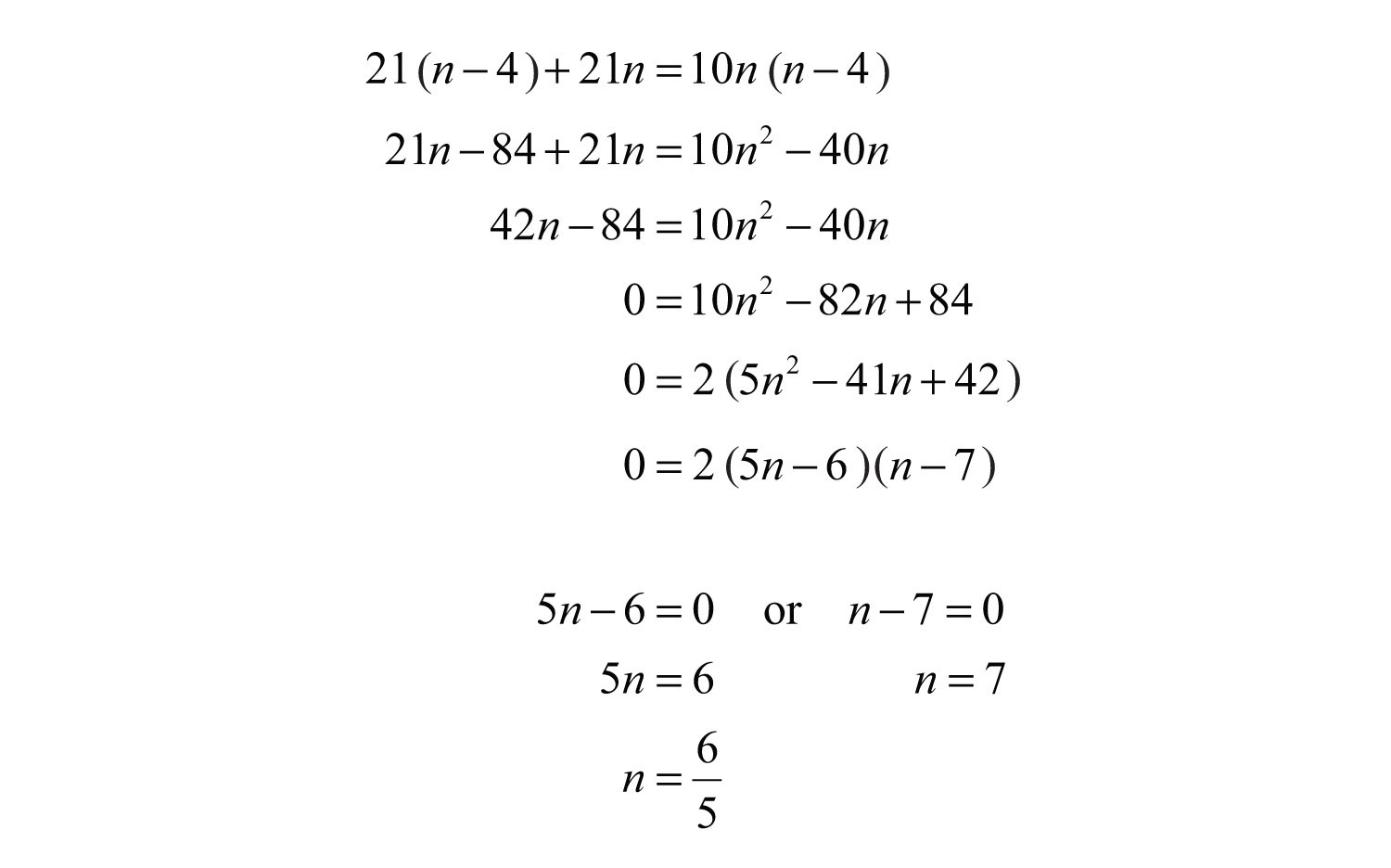 Solving Problems With Quadratic Equations Worksheet