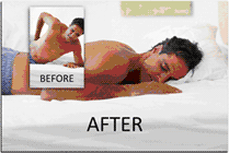 target areas of pain -- before and after.