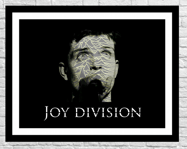 joy division poster print ian curtis unknown pleasures wall art 80s
