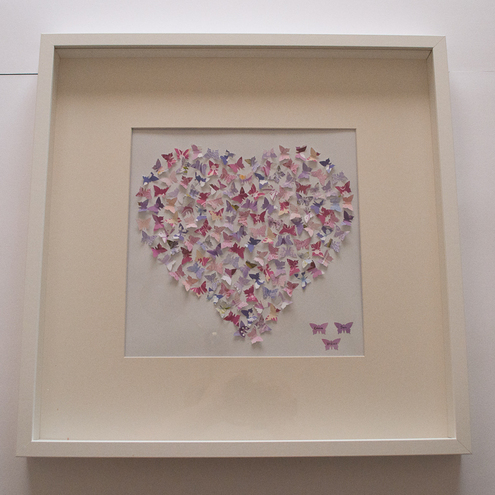 Personalised Butterfly Heart Box Frame Large Folksy