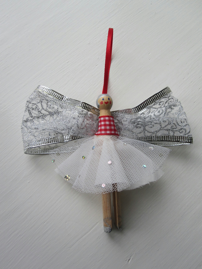Dolly Peg Angel Fairy Christmas Decorations Folksy