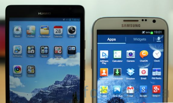 Huawei Ascend Mate vs Samsung Galaxy Note II-1