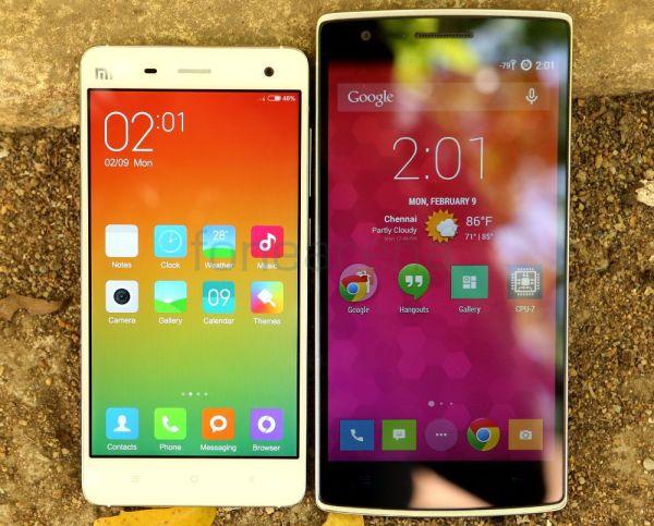 Xiaomi Mi 4 vs OnePlus One