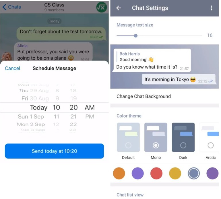 Telegram   Schedule messages