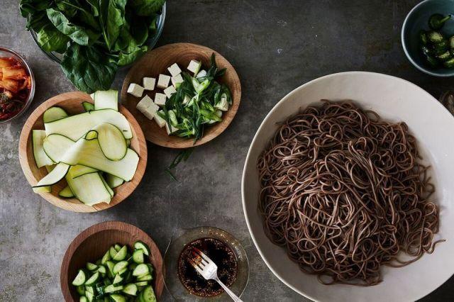 Soba noodles taste better chilled.