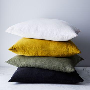 stonewashed linen pillow 22 x 22