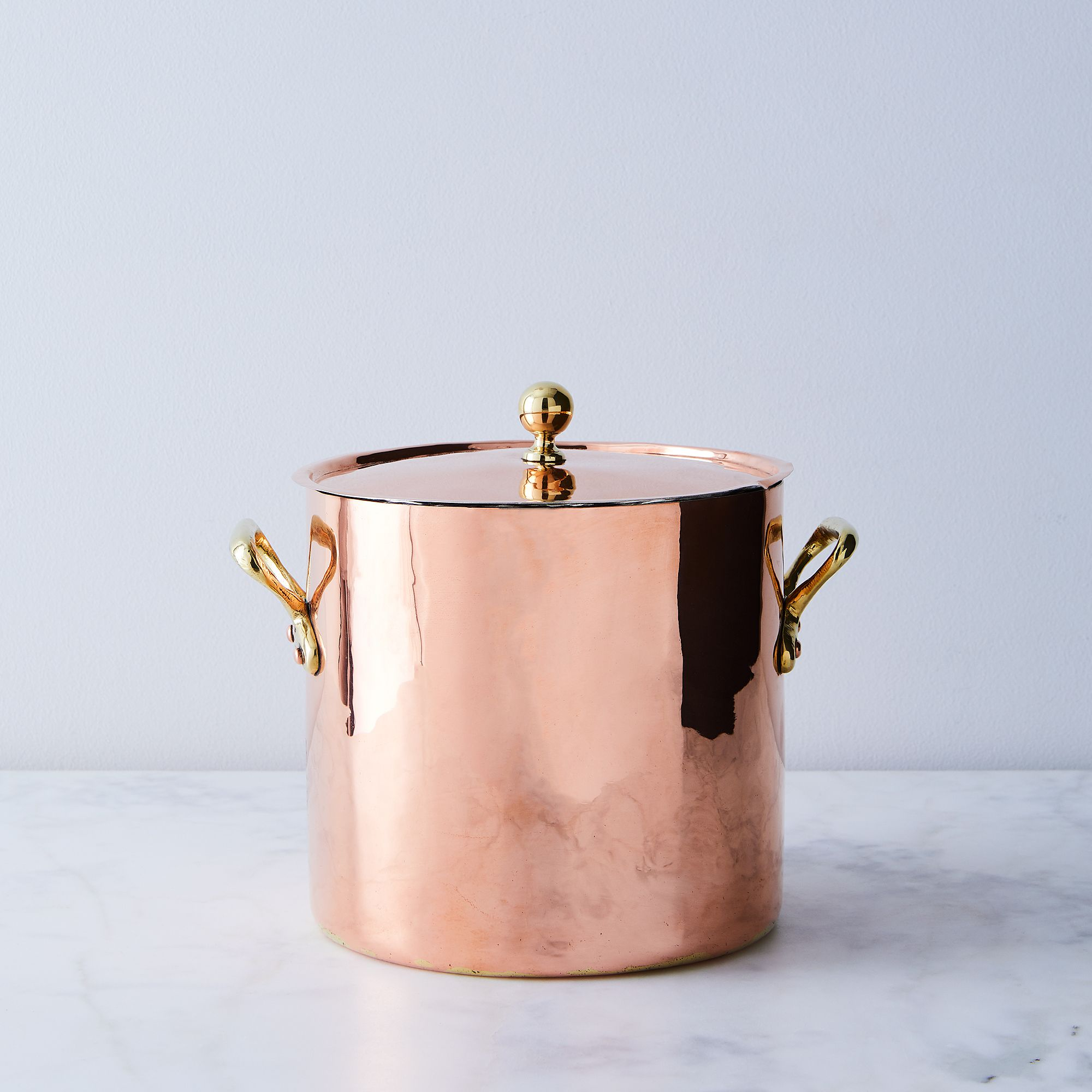 Vintage Copper French Large Stockpot, Late 19th Century - Medium