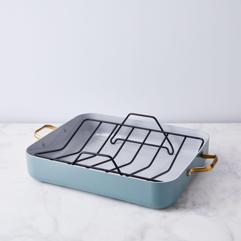 food52 x greenpan roasting pan with rack