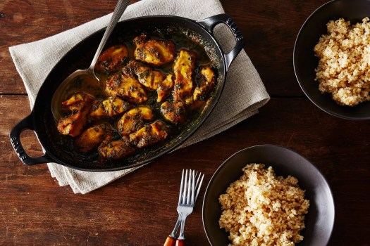 maple curry chicken with kale