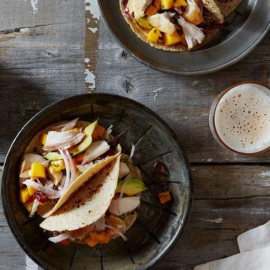 Mahi Mahi and Avocado Tacos with Mango-Cilantro Salsa
