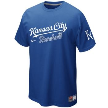 Nike Kansas City Royals Away Practice T-Shirt - Royal Blue