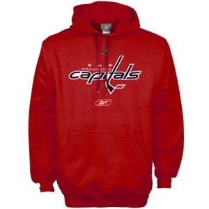 Reebok Washington Capitals Red Primary Logo Hoodie Sweatshirt