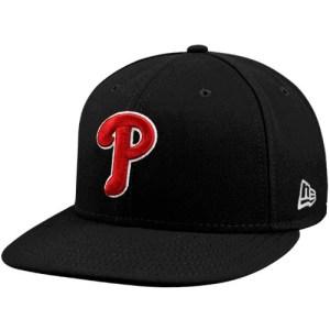 New Era Philadelphia Phillies Black-Red League Basic Fitted Hat