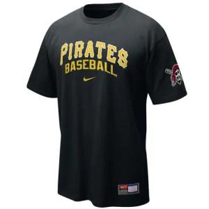 Nike Pittsburgh Pirates Black MLB Practice T-shirt