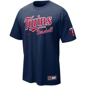 Nike Minnesota Twins Navy Blue MLB Practice T-shirt