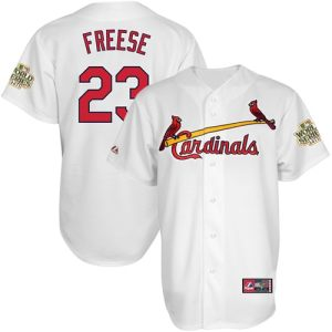 Majestic David Freese St. Louis Cardinals 2011 World Series Champions Home Jersey - White