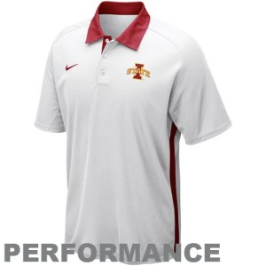 Nike Iowa State Cyclones 2012 Coaches Elite Force Performance Polo - White