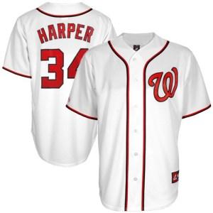 Majestic Bryce Harper Washington Nationals Replica Player Jersey - White