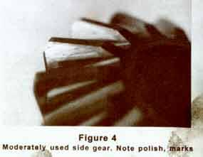 Moderately used side gear