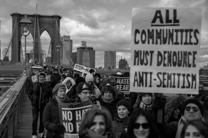 Solidarity march by the Forward