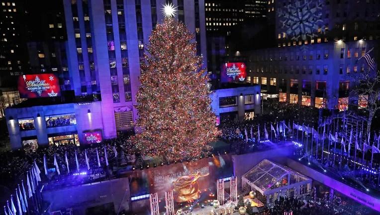 Rockefeller Center Christmas Tree Lights Up For The Season