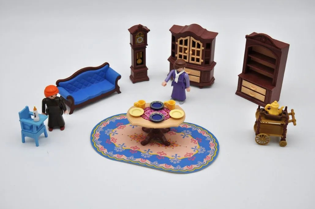 playmobil salle a manger ancienne canape personnages collection