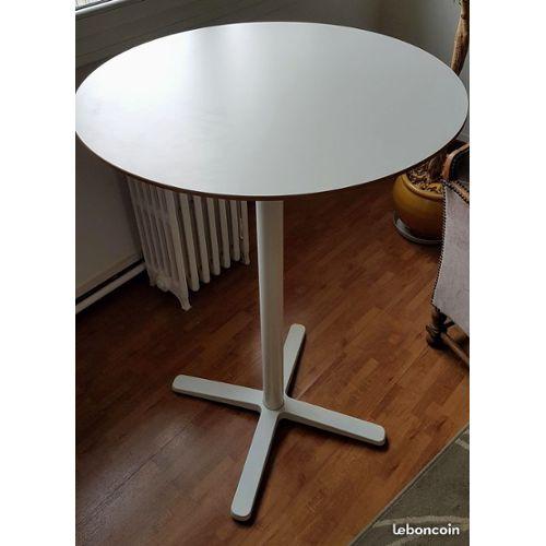 Table De Bar Ronde Haute Ikea Billsta état Neuf Rakuten