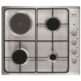 sauter spe4464mx table de cuisson gaz et electrique 4 plaques de cuisson largeur 60 cm acier inoxydable