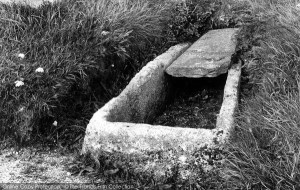 Photo of Crantock, Stone coffin in the churchyard 1894, ref. 33533