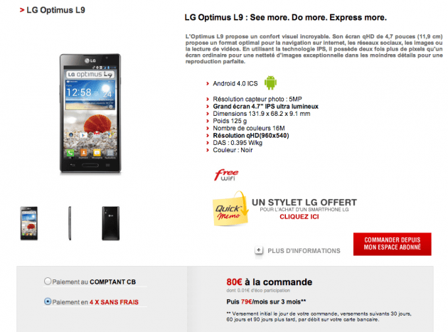Free Mobile - LG Optimus L9