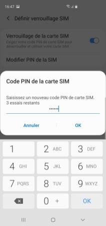 changer code pin samsung 6