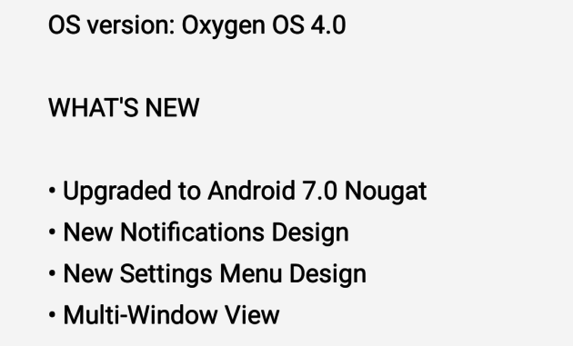 OxygenOS 4 0: check out the latest update Nougat with