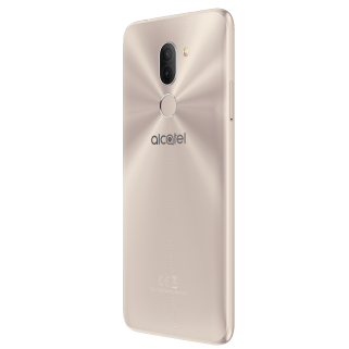 Alcatel 3X_Metallic Gold_Back Right (with CE)