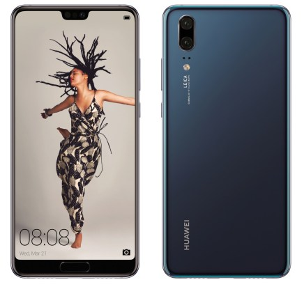 Huawei P20 Blue press render