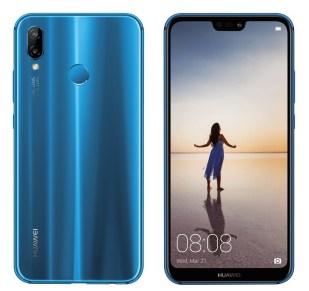 Huawei P20 Lite blue press render