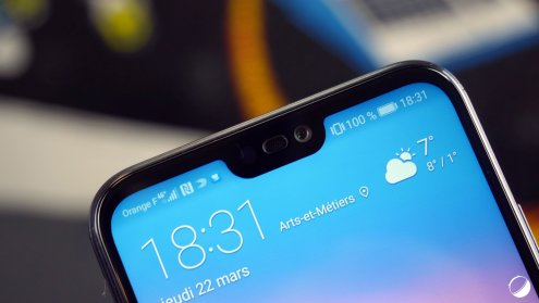 Huawei P20 Lite notch