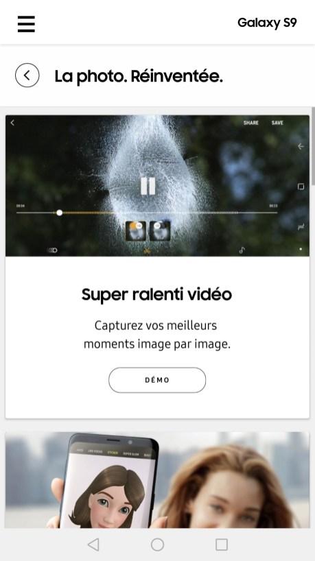 Samsung Galaxy S9 experience app (3)