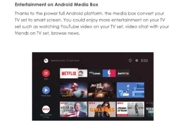 Boitier Google Android TV 4K FCC Avril 2018 (3)
