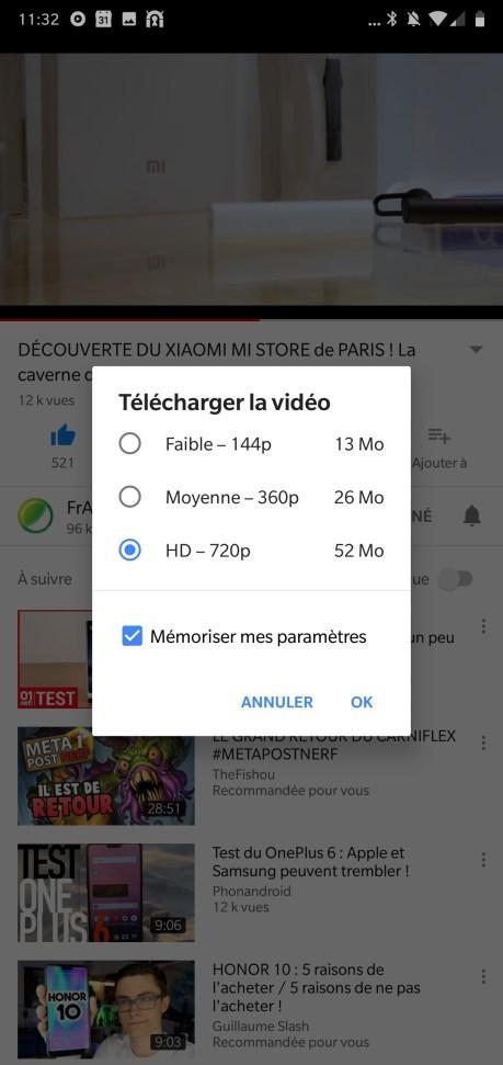 Télécharger des vidéos avec Youtube Red