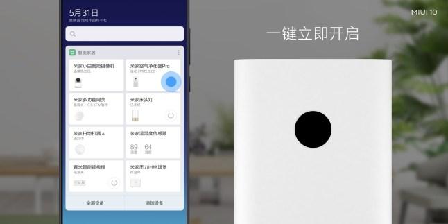 Xiaomi MIUI 10 domotique