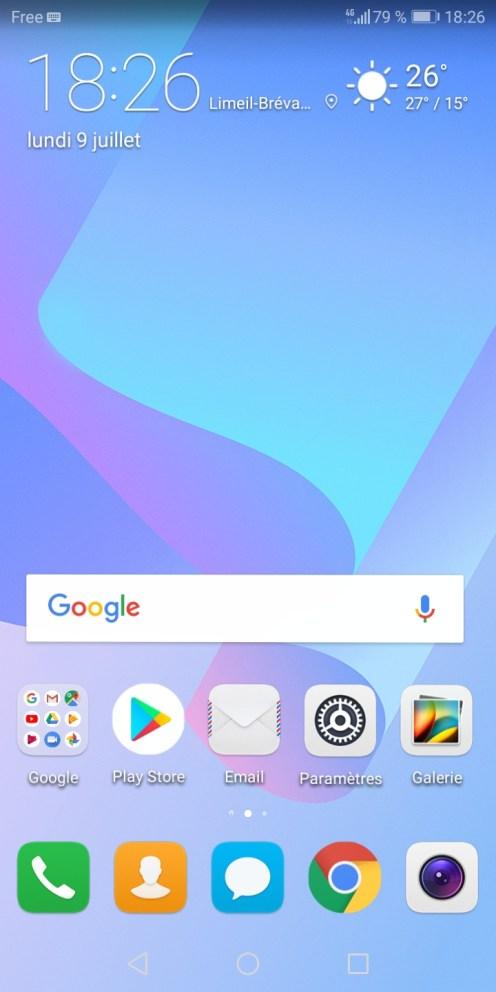 Huawei Y6 screen 01