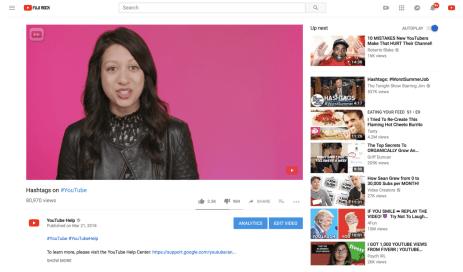 YouTube nouveau lecteur vidéo hd avant